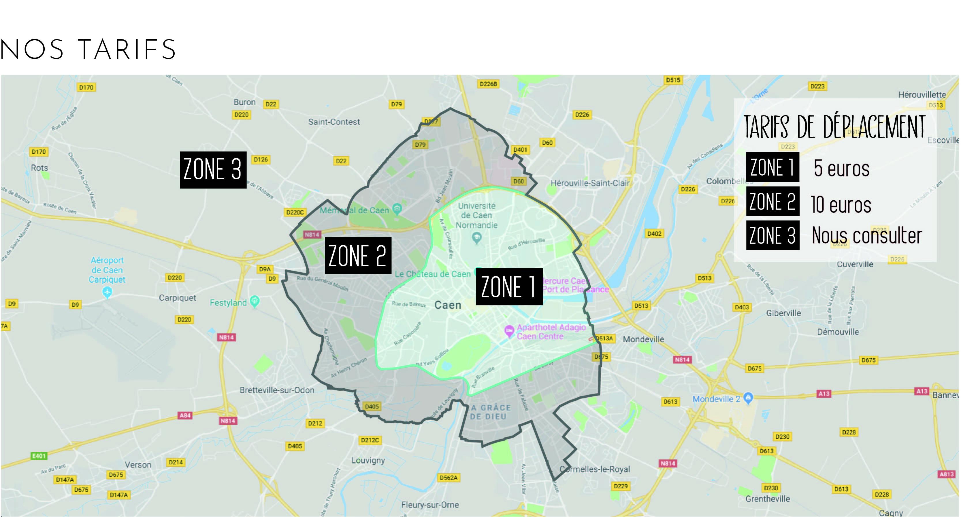 Différentes zones de l'atelier mobile Citibike