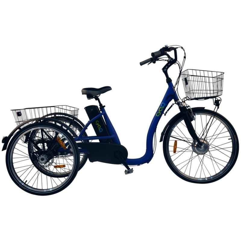 TRICYCLE ÉLECTRIQUE MODÈLE : CYCLO2 COMFORT 26 + - 2390€