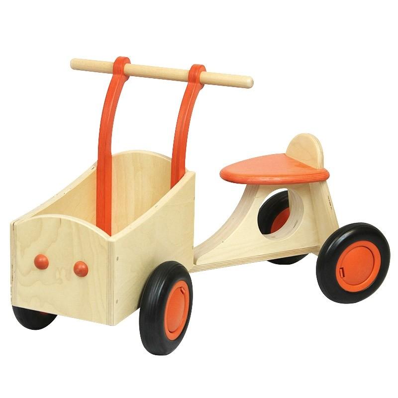Tricycle orange en bois Babboe - 84,90€