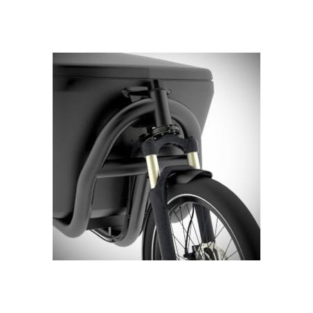 VELO À ASSISTANCE ELECTRIQUE DOUZE CYCLES G4e MESSENGER BATTERIE COLONNE DIRECTION