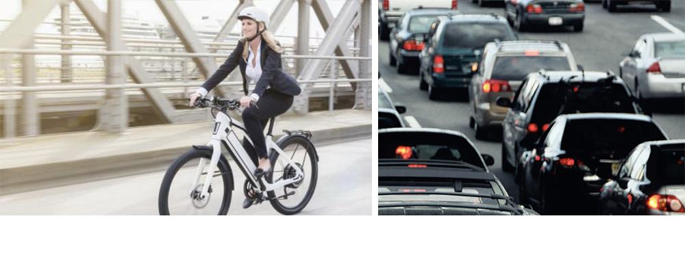 Évitez les bouchons en vélo électrique