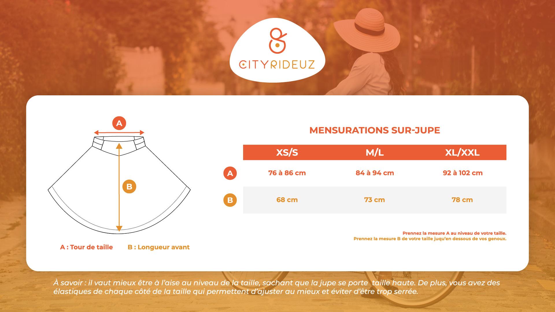 Guide des tailles Cityrideuz